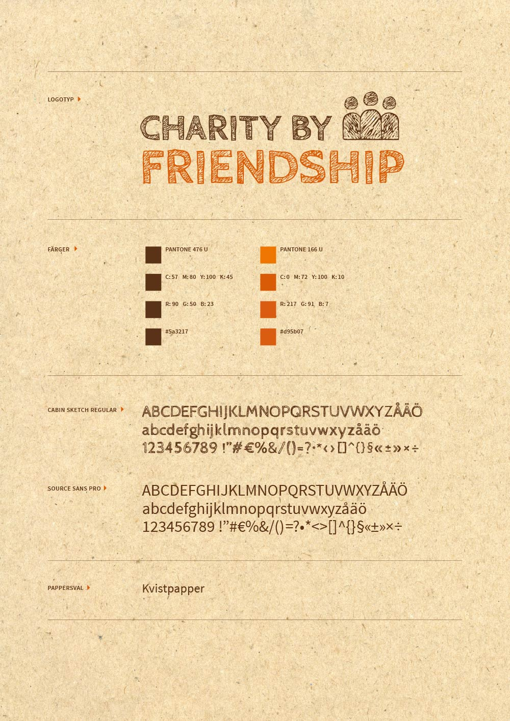 Charity by friendship grafisk profil