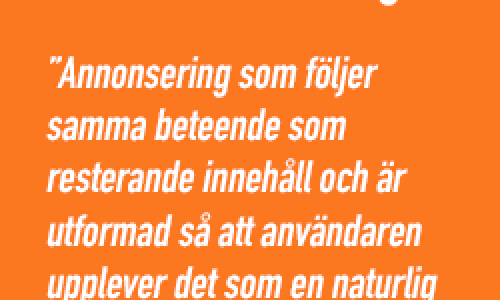 Höj nivån på native advertising och dominera digitalt